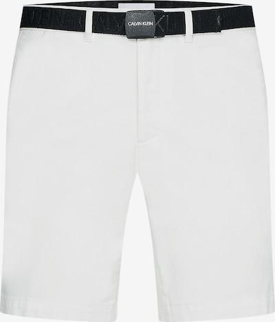Calvin Klein Chino hlače | črna / bela barva, Prikaz izdelka