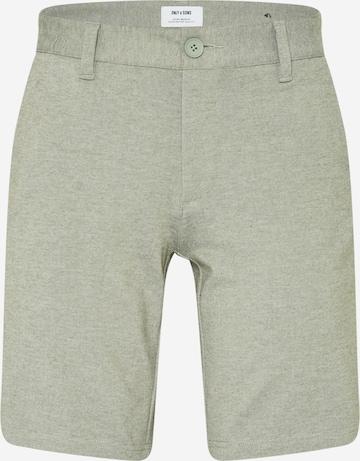 Pantalon chino 'Mark' Only & Sons en vert