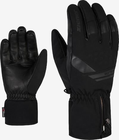 ZIENER Skihandschuhe 'Goman AS' in schwarz, Produktansicht