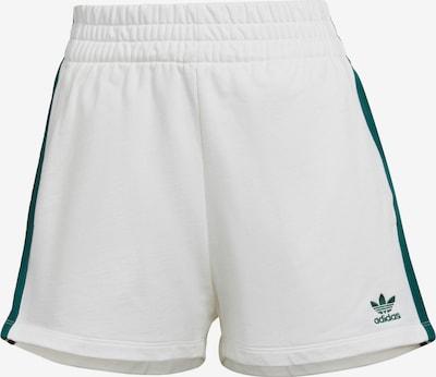 ADIDAS ORIGINALS Pantalon en vert foncé / blanc, Vue avec produit