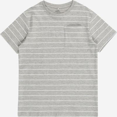 NAME IT T-Shirt 'Ves' in graumeliert / weiß, Produktansicht