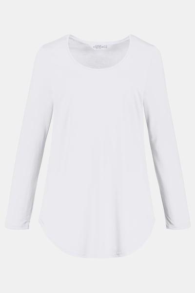 Studio Untold Langarm-Shirt in weiß, Produktansicht