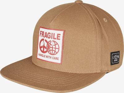 Cayler & Sons Cap 'Fragile Peace' in dunkelbeige / rot / weiß, Produktansicht