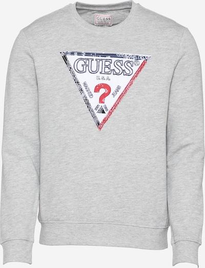 GUESS Sweatshirt 'LENOX' in navy / graumeliert / rot / weiß, Produktansicht