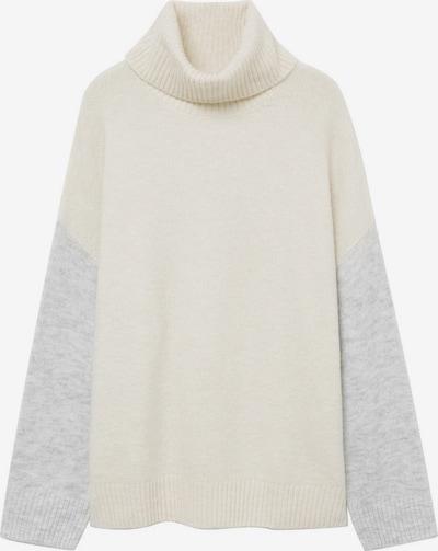 MANGO Пуловер 'Taldorac' в светлосиво / яйчена черупка, Преглед на продукта