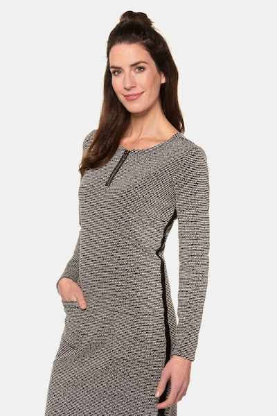 Gina Laura Damen Kleid 726504 in grau, Modelansicht