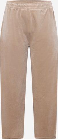 Pantaloni de la Urban Classics Curvy pe bej