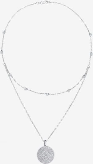 ELLI Kette 'Layer' in silber / weiß, Produktansicht