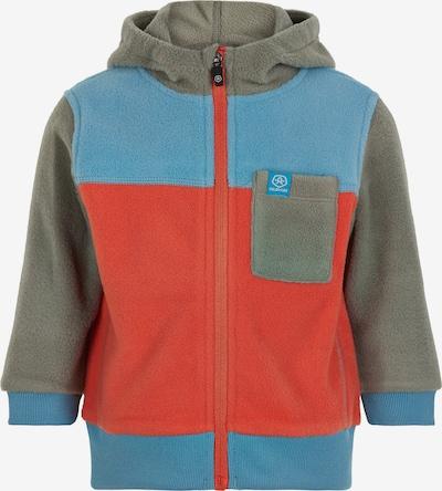 COLOR KIDS Fleecejacke in blau / grau / orange, Produktansicht