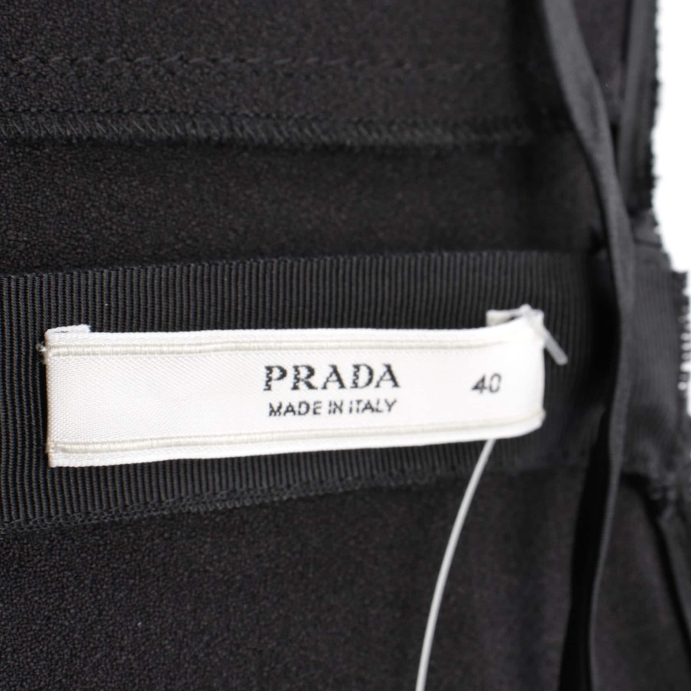 PRADA Kleid in 34 in schwarz