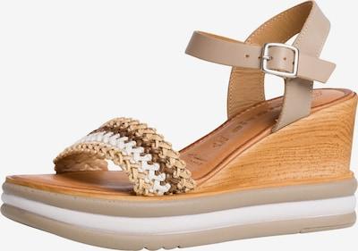 TAMARIS Sandale in beige / braun / weiß, Produktansicht
