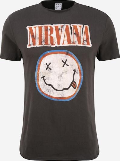 AMPLIFIED T-Shirt 'NIRVANA' en bleu / gris foncé / rouge / blanc, Vue avec produit