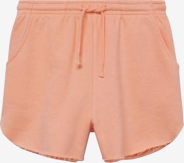 MANGO TEEN Shorts in Orange