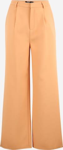 Missguided Petite Plissert bukse i oransje