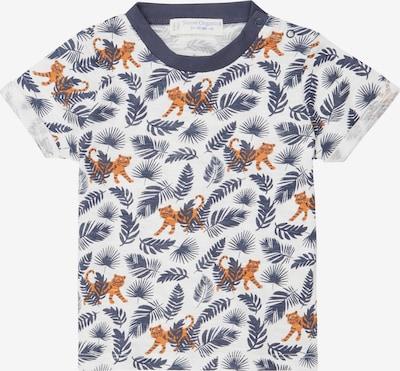 Sense Organics T-Shirt 'ODO' en chamois / bleu marine / blanc naturel, Vue avec produit