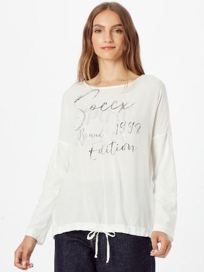 Soccx Bluse in nachtblau / weiß, Modelansicht