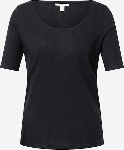 ESPRIT Тениска в черен меланж: Изглед отпред