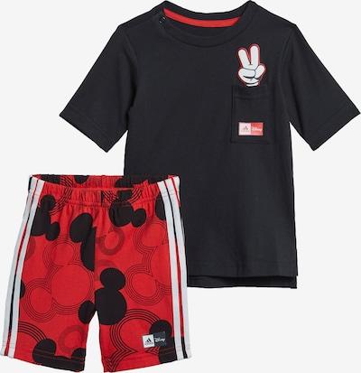 ADIDAS PERFORMANCE Trainingsanzug 'Disney Mickey Mouse' in rot / schwarz / weiß, Produktansicht
