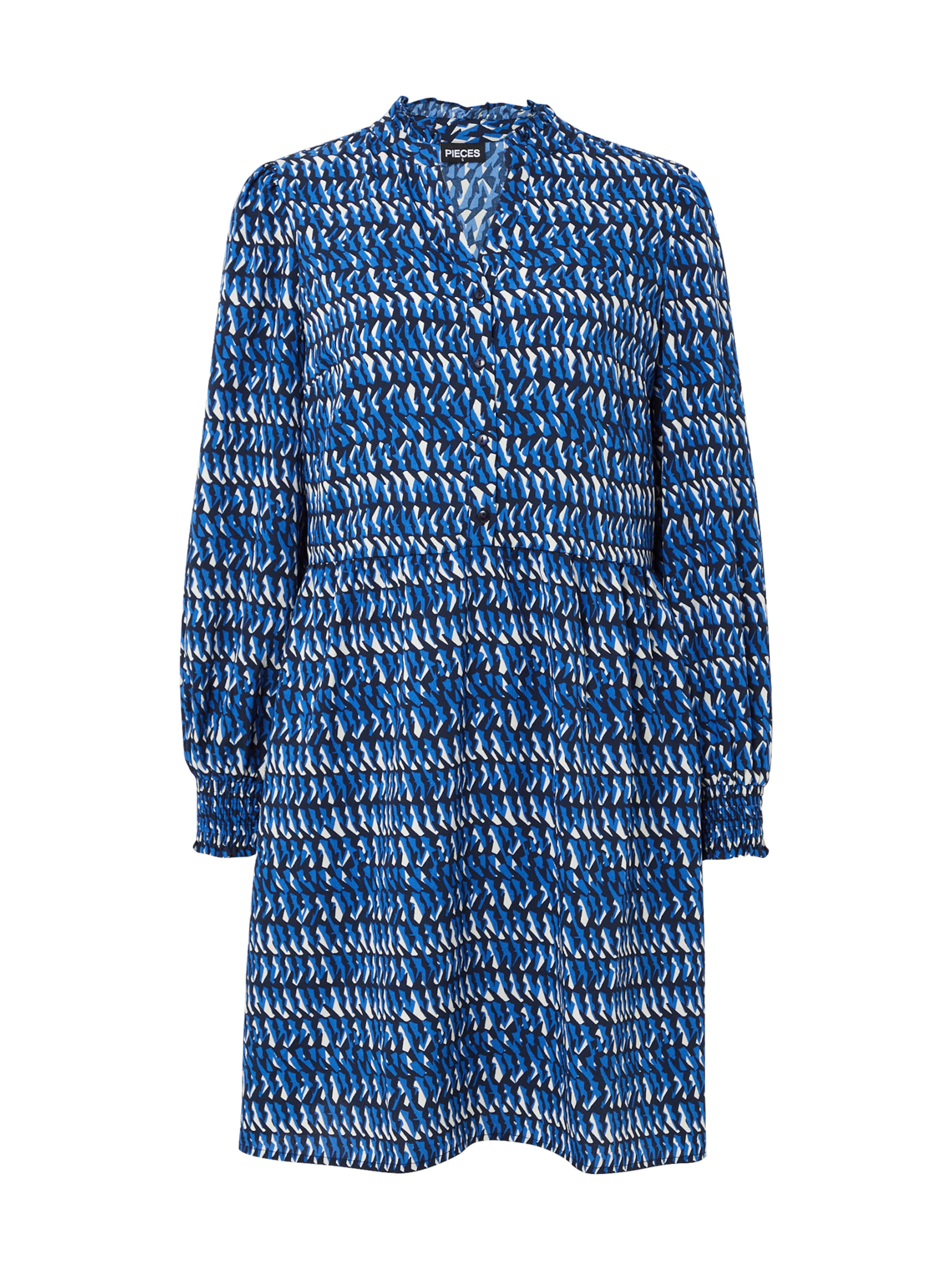 PIECES Klänning i blå / marinblå / vit