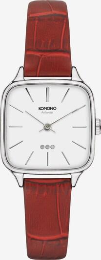 Komono Uhr in rostrot, Produktansicht