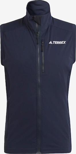 adidas Terrex Skilanglaufweste 'TERREX Xperior' in blau / weiß, Produktansicht