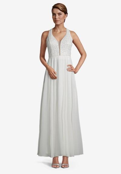 Vera Mont Abendkleid mit Pailletten in perlweiß, Modelansicht
