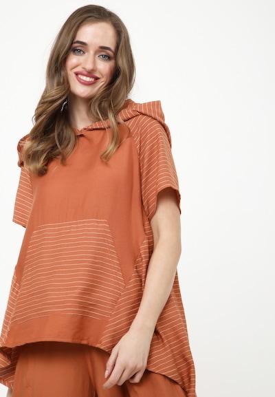 Madam-T Tunika 'Kira' in orange / weiß, Modelansicht