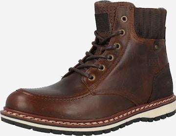 BULLBOXER Boots med snörning i brun