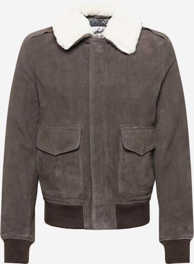 Schott NYC Jacke in taupe / weiß, Produktansicht