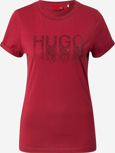 HUGO Shirt in Fire red / Black, Item view