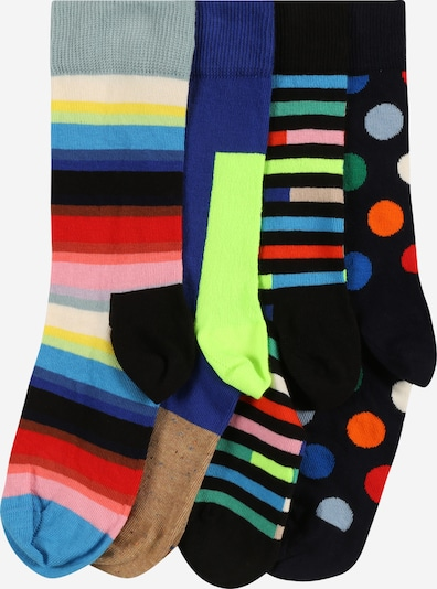 Happy Socks Socken in blau / neongelb / rosa / rot / schwarz, Produktansicht