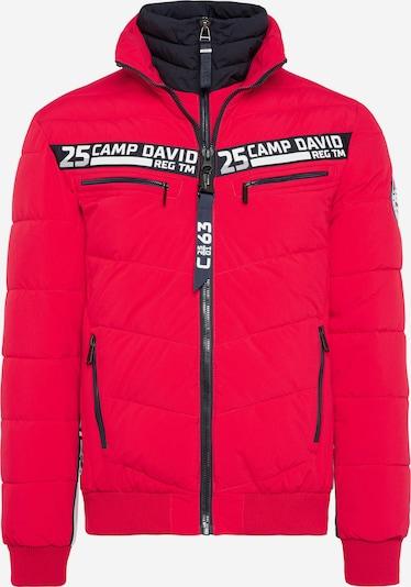 CAMP DAVID Jacke mit Doppelverschluss und Logo Tapes in rot, Produktansicht