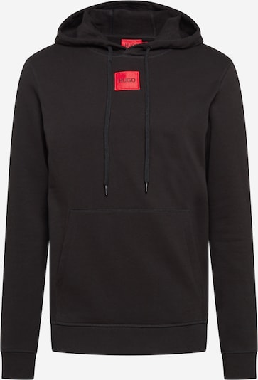 HUGO Majica 'Daratschi 212' | ognjeno rdeča / črna barva, Prikaz izdelka