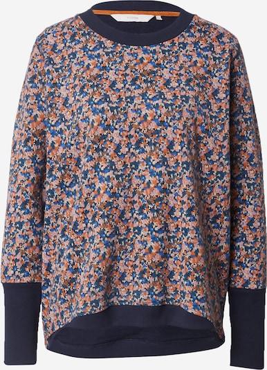 NÜMPH Sweatshirt 'NIKOLA' in de kleur Saffier / Duifblauw / Donkeroranje / Rosa / Offwhite, Productweergave