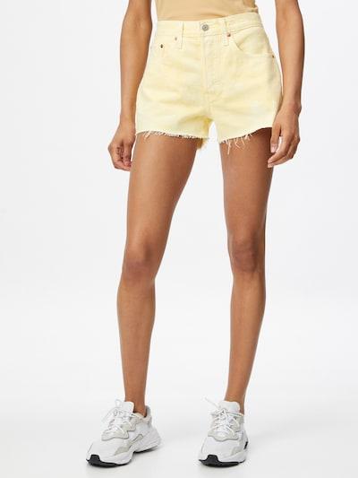 LEVI'S Jeans '501®' in de kleur Pasteelgeel, Modelweergave
