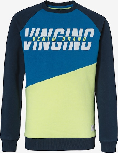 VINGINO Sweatshirt in hellblau / dunkelblau / gelb / weiß, Produktansicht