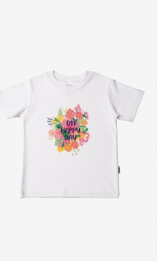 LILIPUT T-Shirt 'Oh happy day' in mischfarben / weiß, Produktansicht