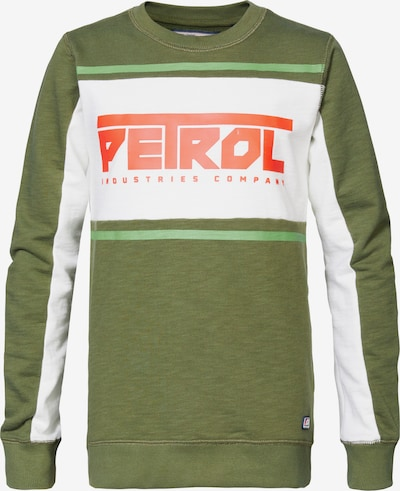 Petrol Industries Sweatshirt in grün / orange / weiß, Produktansicht