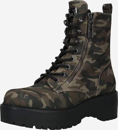 GUESS Lace-Up Ankle Boots 'Tayte' in Brown / Light brown / Dark grey / Black, Item view