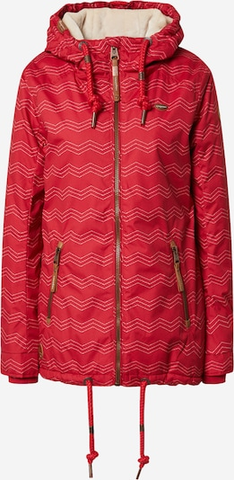 Ragwear Veste outdoor 'Zuzka' en rouge, Vue avec produit