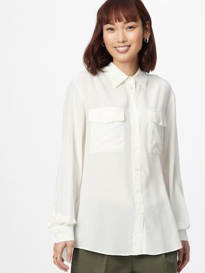 BOSS Casual Bluse 'Biventi' in weiß, Modelansicht