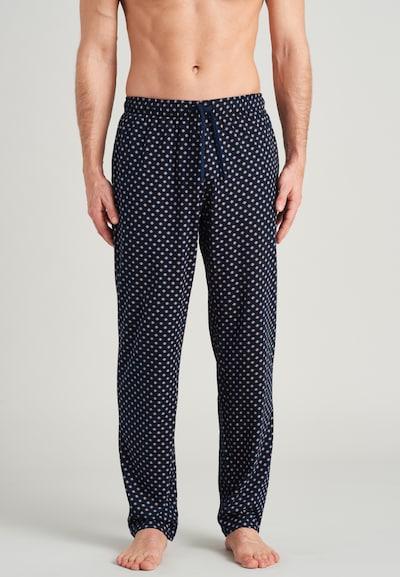 SCHIESSER Pyžamové nohavice 'Selected' - námornícka modrá / svetlomodrá / svetlooranžová, Model/-ka