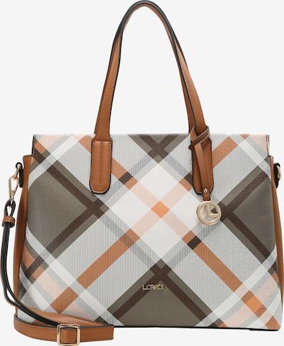 L.CREDI Shopper 'Fedra' in beige / braun / hellbraun / grau: Frontalansicht
