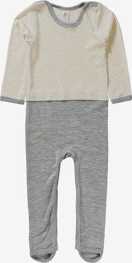 ENGEL Schlafanzug in graumeliert / wollweiß, Produktansicht
