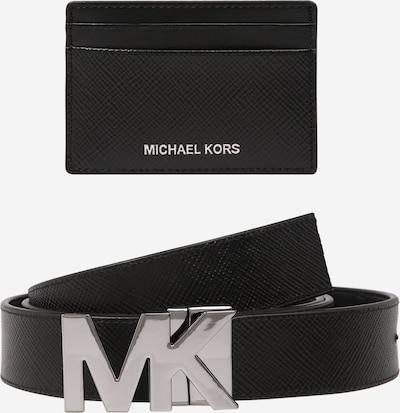 Michael Kors Set Gürtel und Kartenetui in schwarz, Produktansicht