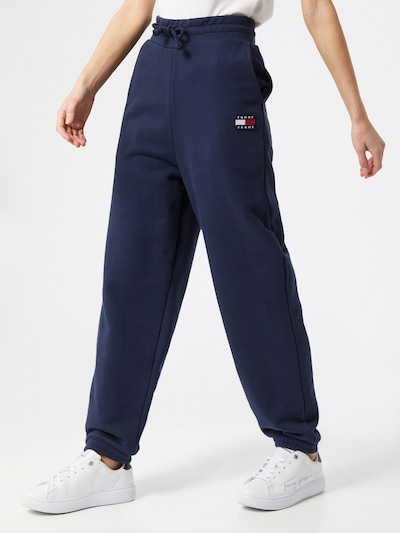 Tommy Jeans Hose in navy / rot / weiß, Modelansicht