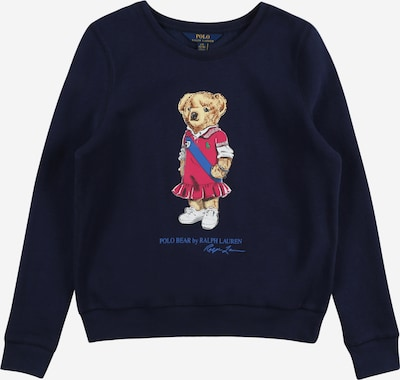POLO RALPH LAUREN Sweatshirt in navy / brown / grenadine / white, Item view