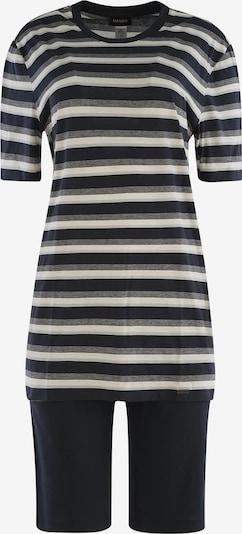 Hanro Kurzarm Pyjama ' Night & Day ' in navy / weiß, Produktansicht