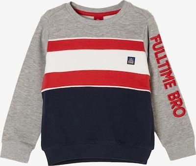 s.Oliver Sweatshirt in blau / grau / rot / weiß, Produktansicht