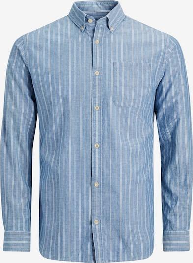 JACK & JONES Hemd in rauchblau / weiß: Frontalansicht